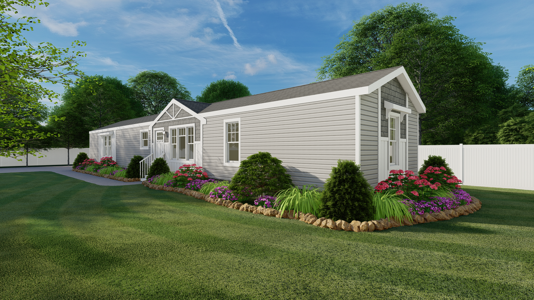 The 926 ADVANTAGE PLUS 7616 Exterior. This Manufactured Mobile Home features 3 bedrooms and 2 baths.