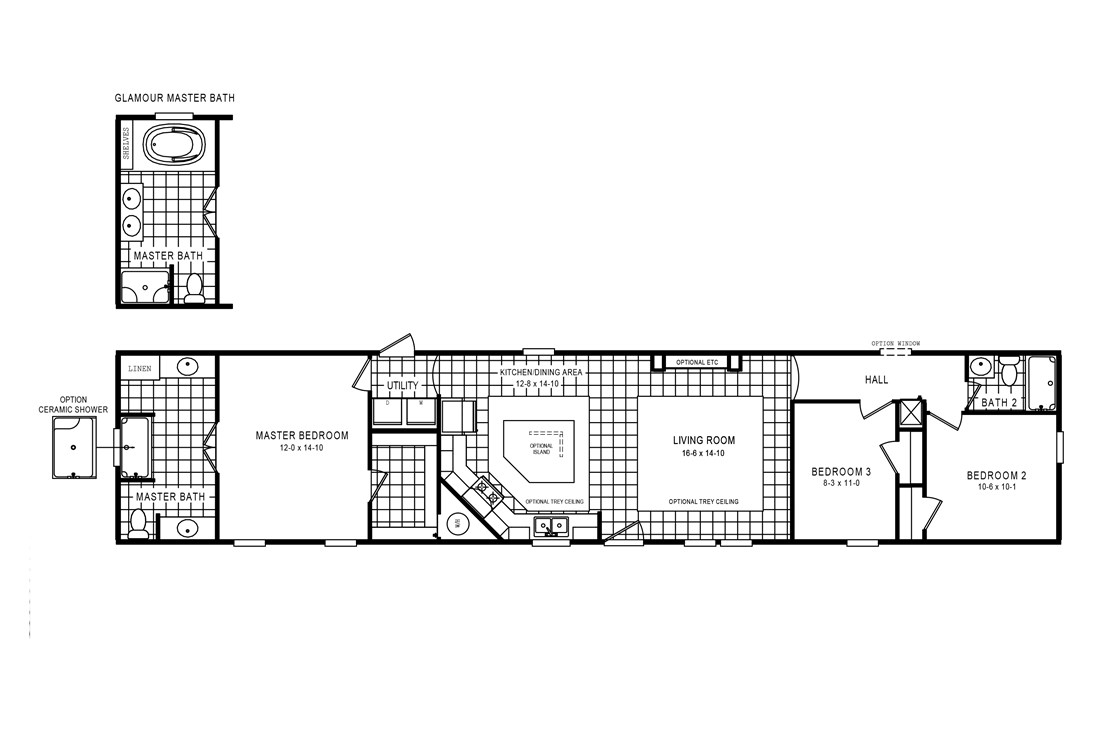 The 926 ADVANTAGE PLUS 7616 Floor Plan