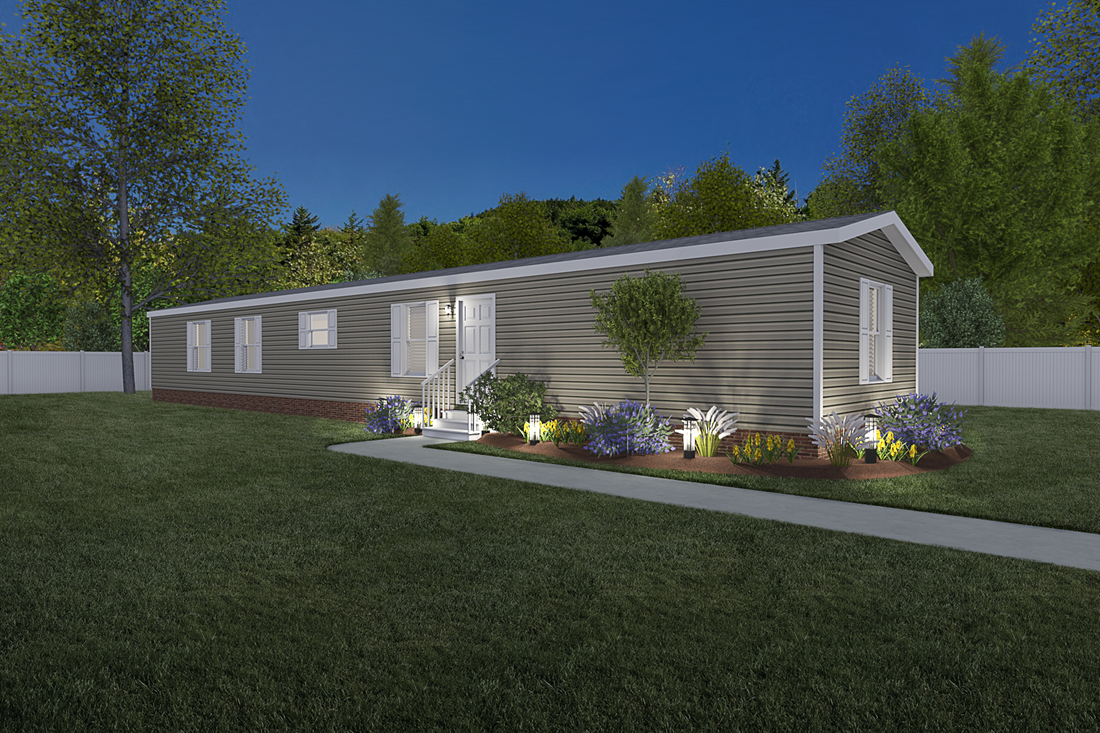 The 927 ADVANTAGE PLUS 7616 Exterior. This Manufactured Mobile Home features 4 bedrooms and 2 baths.