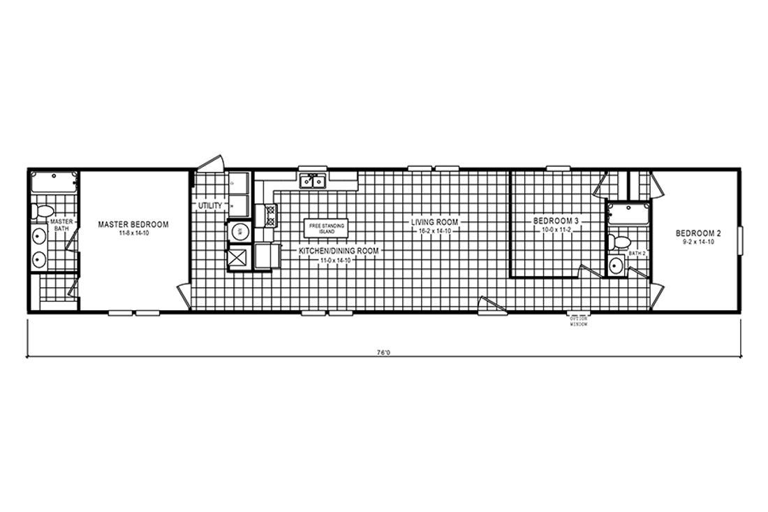 The 930 THE SAVANNAH 7616 Floor Plan