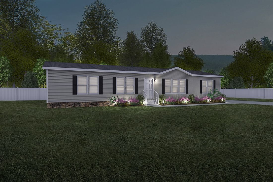 The 2360 ROCKETEER 6828 Exterior. This Manufactured Mobile Home features 3 bedrooms and 2 baths.