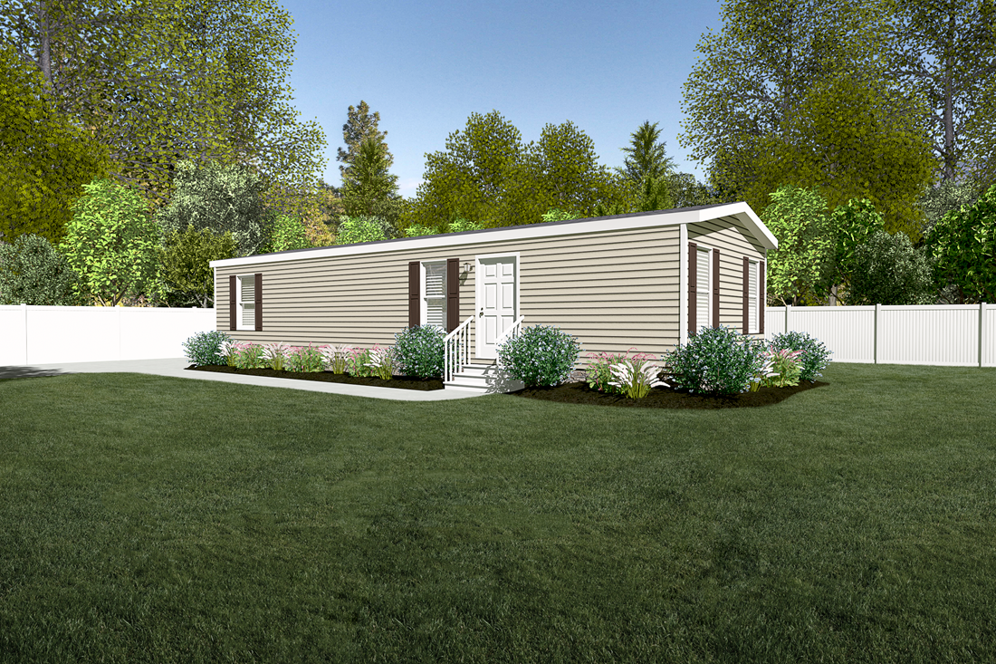 The 3008 ADVANTAGE PLUS 4816 Exterior. This Manufactured Mobile Home features 2 bedrooms and 1 bath.