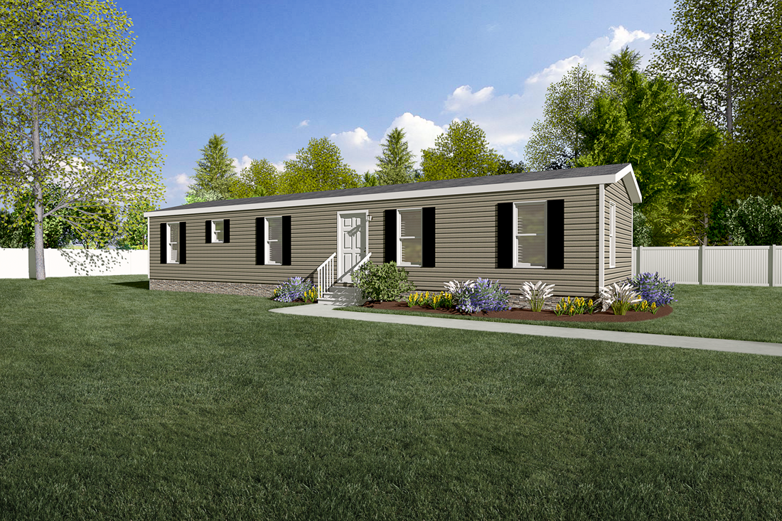 The 900  ADVANTAGE PLUS 5616 Exterior. This Manufactured Mobile Home features 2 bedrooms and 2 baths.