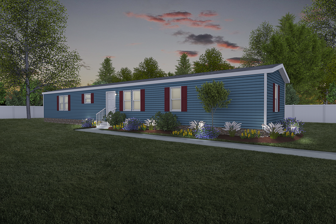 The 921  ADVANTAGE PLUS 7216 Exterior. This Manufactured Mobile Home features 3 bedrooms and 2 baths.