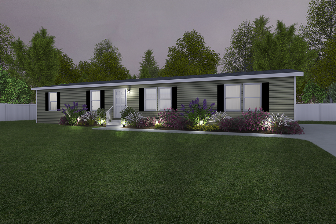 The 4604 ROCKETEER 4 6428 Exterior. This Manufactured Mobile Home features 3 bedrooms and 2 baths.