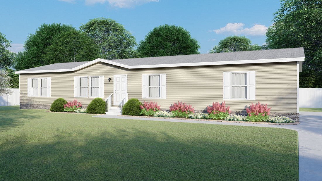 The 4602 ROCKETEER 2 7028 Exterior. This Manufactured Mobile Home features 4 bedrooms and 2 baths.