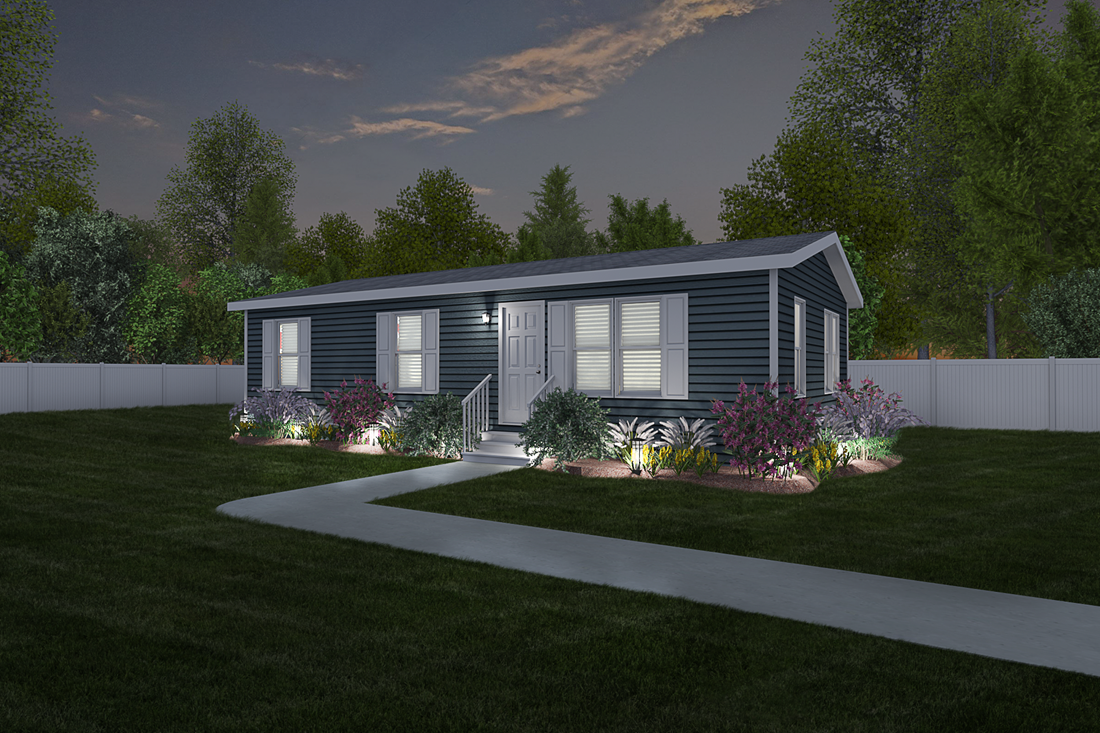The 2320 VINTAGE PREMIER 4828 Exterior. This Manufactured Mobile Home features 3 bedrooms and 2 baths.